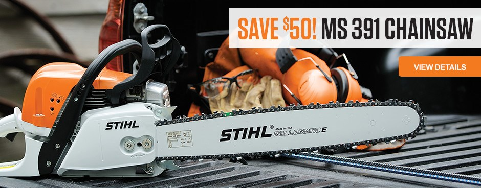 Save $50 on MS 391 Chainsaw